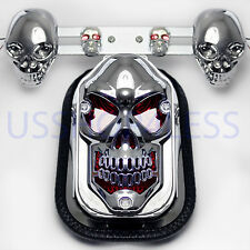 New Skull Motorcycle Turn signal Brake Rear Tail Light For Harley Chopper Bobber