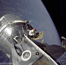 Photo Nasa - Apollo 9 - Module spatial LM-3 Spider sortie astronaute