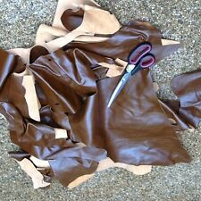 SOFT TAN LEATHER 1/2 KILO OFFCUTS PIECES REMNANTS