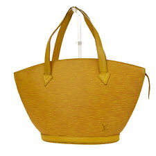 Auth Louis Vuitton Saint Jacques PM Hand Bag Epi Leather Yellow M52279 02B272