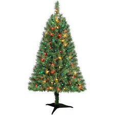 Winston Pine 3 ft Artificial Pre-Lit Multi-Color Lights Christmas Tree w/Base