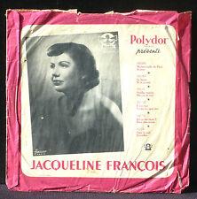 Jacqueline François Maître Pierre Polydor 560 216  25 cm 10 ''  78 RPM NM