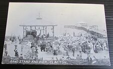 Old Town Band Stand & Seaside Pier Postcard - Clacton / Clacton-on-Sea Essex