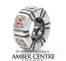 Pandora Silver BROWN NORTHERN LIGHT SPACER pacer -790368BCZ RRP£40!!!