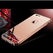 Luxury Gold Mirror Aluminum Metal Cover Case for iPhone 6s / 6 Plus 5s 5 5C 4s 4