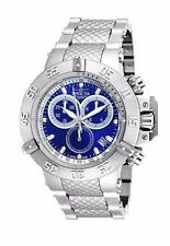 New Mens Invicta 18171 Subaqua Chronograph Blue Dial Steel Bracelet Watch
