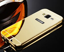 Gold Aluminum Metal Mirror Case Cover For Samsung Galaxy Grand Prime G530 S001