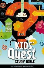 NIrV, Kids' Quest Study Bible, Hardcover: Answers to over 500 Questions about th