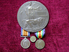 1916 Replica Copy WW1 Casualty Group - Medals & Unamed Memorial  Plaque F/Size
