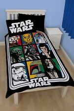 Star Wars Force Panel Single Bed Duvet Quilt Cover Set Brand New Gift