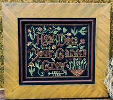 Barrick Samplers ~ HOW DOES YOUR GARDEN GROW ~ OOP Leaflet ~ sampler XS chart