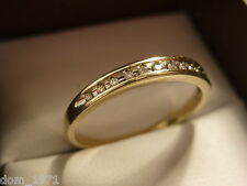 9k 9ct Solid Gold Diamond Eternity Ring. 0.15ct Size R 2.02g