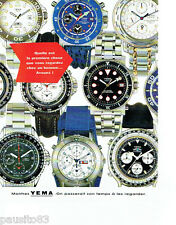 PUBLICITE ADVERTISING 096  1994  les montres Yema quartz flygraf