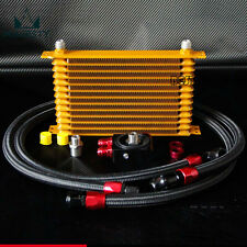 10AN 13 Row Engine Oil Cooler + 3/4*16 / m20*1.5 thermostat Sandwich Plate kit