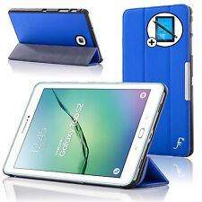 Leather Blue Smart Case Cover Samsung Galaxy Tab S2 8.0 T710 Screen Prot Stylus
