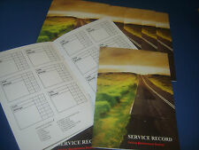 SERVICE BOOK BLANK UNSTAMPED HISTORY RECORD REPLACEMENT CAR HYUNDAI ROVER MG DS