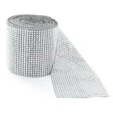New 24strip 30f Silver Reel Crystal Ribbon Sparkle Rhinestone Diamond Mesh Style