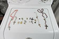 Several Catholic Rosaries Crosses Pins Up Side Down Cross Peter Died That Way