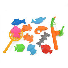 Kids Children Bath Time Magnetic Fishing Game Toys Rod Hook Catch Plastic Fishes