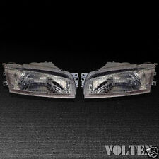 1997-2002 Mitsubishi Mirage Headlight Lamp Clear lens Halogen Sedan Pair