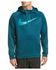 NIKE THERMA CARBON SWOOSH HOODIE PO MEN XXL 823086-346 MIDNIGHT TURQUOISE NWT