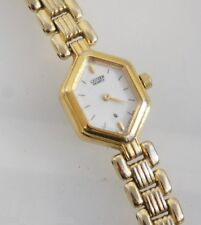 Citizen 3220 Women's Gold Tone Steel Band Mother of Pearl Analog Dial Watch