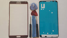 Samsung Galaxy Note 3 Red Genuine Glass Front Screen Lens Tools + Adhesive