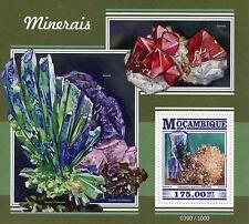 Mozambique 2015 MNH Minerals 1v S/S Chalcopyrite Quartz Hematite