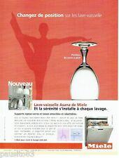 PUBLICITE ADVERTISING 126  2005  Miele  lave vaisselle Asana