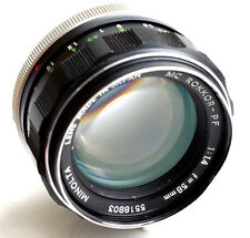 Minolta MC ROKKOR-PF 58mm f1.4 Lens World Ship  JAPAN  GOOD