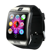 Q18 Bluetooth Smart Wrist Watch Camera for Android Samsung Silver SIM Card