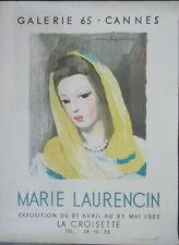 Marie LAURENCIN Affiche Galerie65 Cannes expo62 La Croisette imp Desjobert P1829