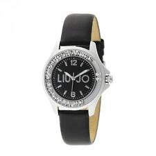 Orologio Donna LIU JO Luxury DANCING MINI TLJ742 Pelle Nero Swarovski NEW