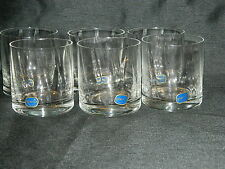 BOHEMIA CRYSTAL RIPPLED WHISKY/SPIRIT 250mls GLASSES