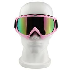 Motocross Motorcycle ATV Anti-fog/UV Off-Road Sport Eyeware Goggles Glasses Pink