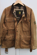 BELSTAFF TRIALMASTER TAN SAND WAXED WAX COTTON JACKET MENS BIKER MEDIUM M