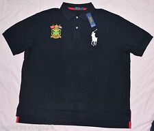 New 4XLT 4XL TALL POLO RALPH LAUREN Mens Big Pony rugby shirt top black 4XT NWT