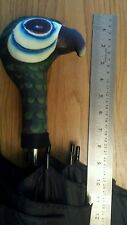 """SMALLER  MARY POPPINS INSPIRED PARROT HEAD WORKING BROLLY..APPROX 27"""" LONG"""