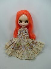 Blythe Outfit Handcrafted long sleeve dress basaak doll # 790-79