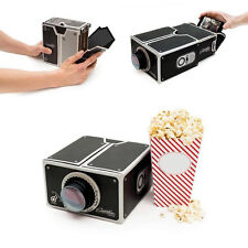 New Portable Cardboard Smartphone Projector For Smart Phone Cinema Movie DIY