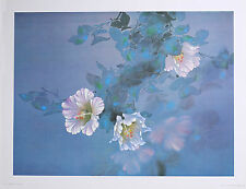 "LAVENDER LIGHT Wall Art 18"" x 24"" Floral Vintage Lithograph by artist David Lee"