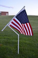 New Heavy Duty PVC Flag Pole Kit for Camping, RVing, Parties, etc.