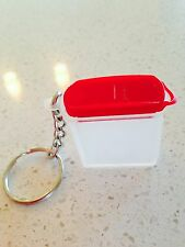 Tupperware Key Chain Keychain Collector's Item Modular Mate Space Saver Red New