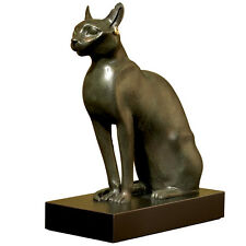 VTG Authentic Metropolitan Museum Of Art Bonded Bronze Egyptian Cat Sculpture