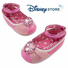 New Disney Store Minnie Mouse Glitter Gal Dress Up Shoes Baby Girl 6 - 12 Months