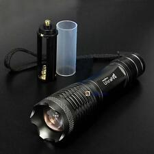 2000LM CREE XML T6 LED Zoomable Flashlight 18650/AAA Focus  Torch Lamp Light BA