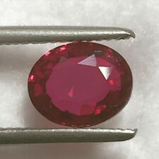 Natural 2.34 Carat Unheated Ruby Red Certified Loose Gemstone GIC