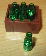 Lego City  1 x Kiste 3x4 braun mit 6 Flaschen - Flaschen Kiste