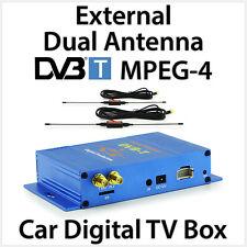External Dual Antenna DVB-T MPEG-4 Digital TV Box Car Head Unit Stereo Player