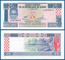 GUINEA 25 Francs 1985 UNC P.28